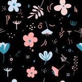 Пастельные цвета цветков и листьев весной Стоковые Фотографии RF