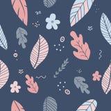 Пастельные цвета цветков и листьев весной Стоковые Изображения RF