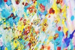 Пастель запачкала яркую краску акварели, красочные оттенки Стоковая Фотография