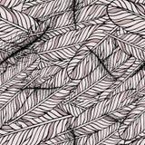 Пастельная безшовная картина с пер Элементы стиля предпосылка рисуя флористический вектор травы Стоковое Фото