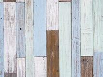 Пастельная деревянная текстура стены Стоковая Фотография
