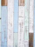 Пастельная деревянная текстура стены Стоковая Фотография RF
