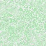 Пастельная зеленая флористическая безшовная картина Стоковое фото RF
