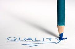 Пастельное качество слова сочинительства карандаша на бумаге. Стоковые Изображения RF