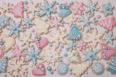 Пастельные покрашенные печенья Стоковое Изображение