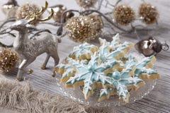 Пастельные покрашенные печенья Стоковая Фотография RF