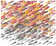 Пастельные ходы щетки на белой предпосылке Стоковые Фото
