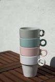 Пастельные чашки Стоковое Изображение
