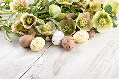 Пастельный цвет украшения пасхальных яя Стоковые Изображения RF