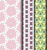Пастель стиля геометрической картины ретро Стоковое Изображение RF