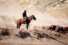 Пастухи казаха в Синьцзян стоковая фотография