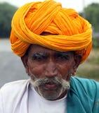 Пастух козы Раджастхана, Индии стоковые фотографии rf