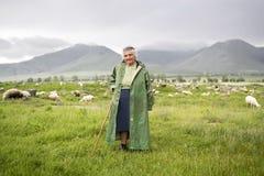 Пастушка в Армении Стоковая Фотография RF