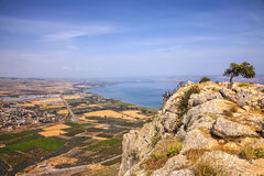 Пастырский израильский ландшафт Святая Земля Стоковые Фото