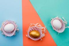 3 пасхального яйца в бумажных оболочках Стоковое Изображение