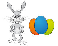 пасхальное яйцо зайчика предпосылки Стоковое Изображение