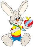 пасхальное яйцо зайчика яблока любит покрасить Иллюстрация вектора