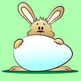 пасхальное яйцо зайчика иллюстрация штока