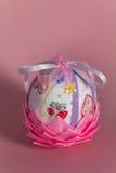 Пасхальное яйцо, искусство, Handmade конец m вверх Стоковые Фото