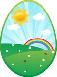 пасхальное яйцо карточки Стоковое Фото