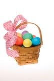 пасхальное яйцо корзины Стоковое Изображение