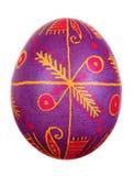 Пасхальное яйцо покрашенное в фольклорном типе Стоковые Фото