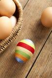 Пасхальное яйцо покрытое с шерстяной пряжей стоковые фотографии rf