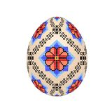 Пасхальное яйцо с картиной украинской вышивки крестиком этнической стоковые изображения