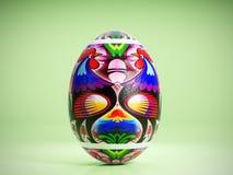 Пасхальное яйцо с польской фольклорной картиной стоковые изображения