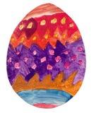 пасхальное яйцо чертежа Стоковое фото RF