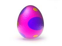 пасхальное яйцо 3d розовое и пурпуровое Стоковые Фотографии RF
