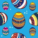 Пасхальные яйца вектора безшовные Стоковое Изображение