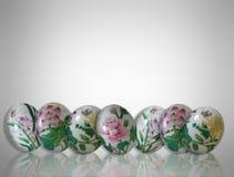 пасхальные яйца граници Стоковое Фото
