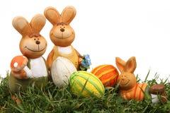 пасхальные яйца зайчика Стоковая Фотография