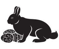 пасхальные яйца зайчика Бесплатная Иллюстрация