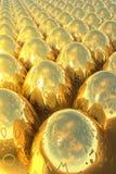 пасхальные яйца золотистые Стоковое Изображение RF