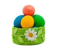Пасхальные яйца изолированные на белизне Стоковые Изображения