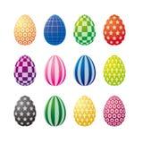 пасхальные яйца искусства op Стоковая Фотография RF