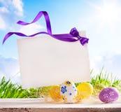 пасхальные яйца карточки искусства приветствуя Стоковые Фото