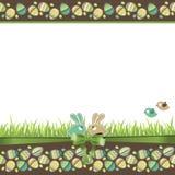 пасхальные яйца карточки приветствуя иллюстрация штока