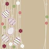 пасхальные яйца карточки приветствуя wirh иллюстрация вектора