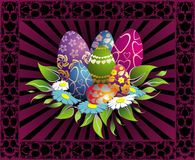 пасхальные яйца карточки Стоковое фото RF