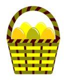 пасхальные яйца корзины Стоковое Изображение