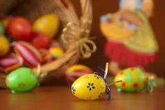 пасхальные яйца корзины Стоковое фото RF