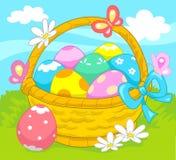 пасхальные яйца корзины бесплатная иллюстрация