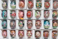 пасхальные яйца коробки уникально Стоковые Фотографии RF