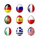 пасхальные яйца международные Стоковое Изображение