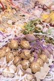 Пасхальные яйца на ярмарке стоковые изображения rf