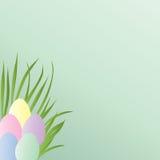 пасхальные яйца пастельные иллюстрация штока