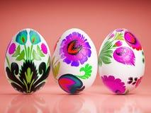 пасхальные яйца предпосылки померанцовые стоковое изображение